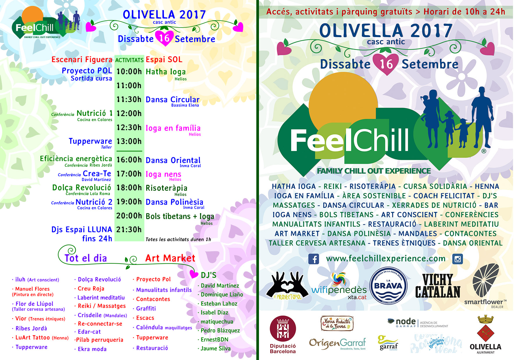 Horari i Poster Feel Chill 17