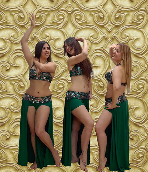 bellydance Inma coral